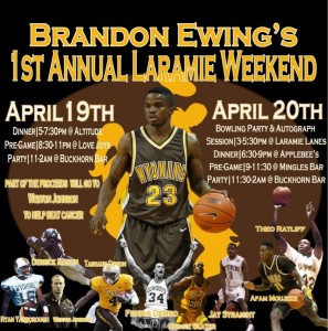 Brandon Ewing will be hosting a fundraiser for former Poke Weston Johnson to help him fight melanoma on April 19th in Laramie.