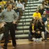 Wyoming head wrestling coach Mark Branch wanders the edge of the mat during a recent home dual. Branch's Cowboys are heading to the NCAA tournament in Oklahoma City this week. (Photo courtesy of the UW Photo Service)
