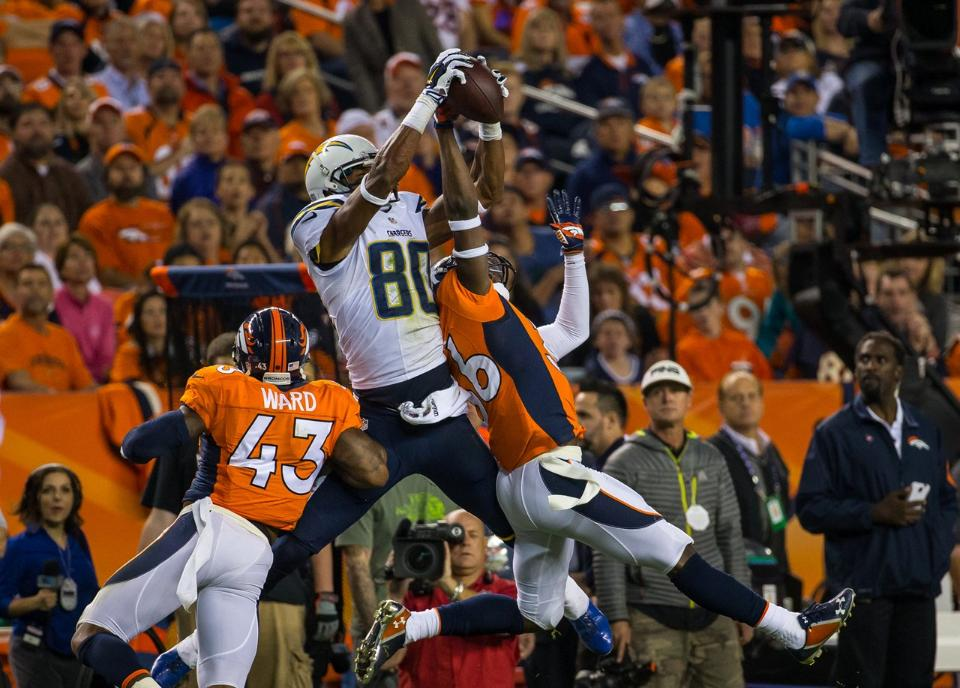 Malcom Floyd added another leaping grab to his already impressive highlights of 2014. (Photo via San Diego Chargers)