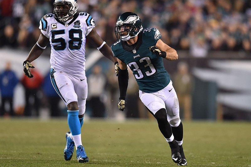 Chris Prosinski made his Eagles debut in week 10. (Photo credit: Philadephiaeagles.com)