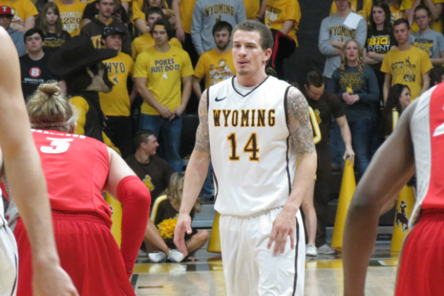 Wyoming Cowboy point guard Josh Adams was named to the Mountain West pre-season 1st team today at Mountain West media days. Adams, the reigning Mountain West tournament MVP will look to build on that success as the Pokes' lone senior starter. (Photo via Jerrad Anderson, Townsquare Media)