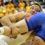 Cowboy wrestler Tanner Harms was named a Big 12 Student-Athlete of the Year on Thursday.  (Photo via UW Photo Service)