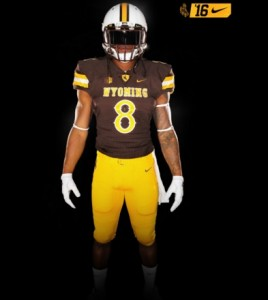 New Wyoming football Nike uniforms for 2016. (Photo courtesy of gowyo.com)