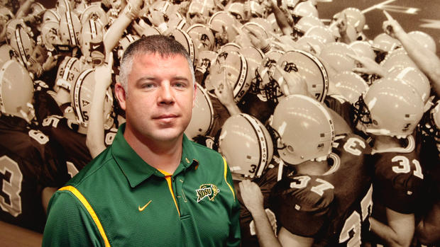 North Dakota State University football defensive coach Scottie Hazelton in 2010.